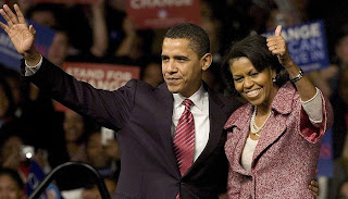 Obama y su mujer Michelle