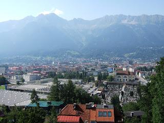 Innsbruck. Panorámica de la ciudad realizada en viaje familiar julio 2007