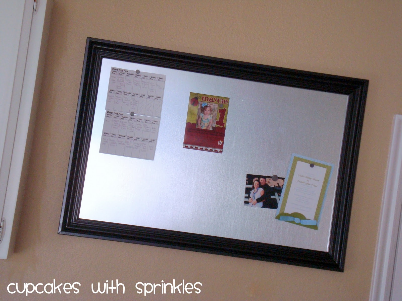 Cupcake With Sprinkles Make Your Own Magnet Board