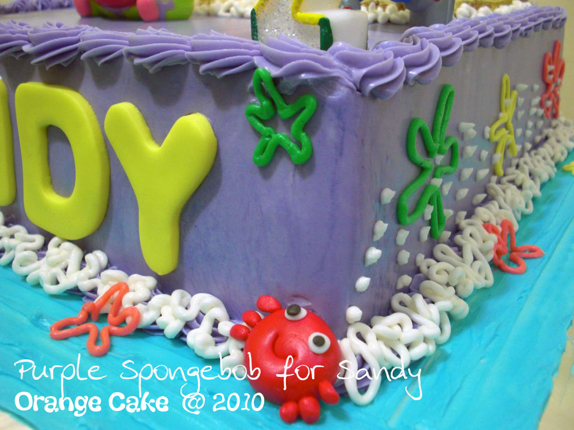 Orange Cake Spongebob Birthday Cake For Sandy
