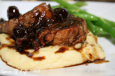 Pork Medallions In Sherry Wine and Dried Cherries Pan Sauce | SPICE OF ...