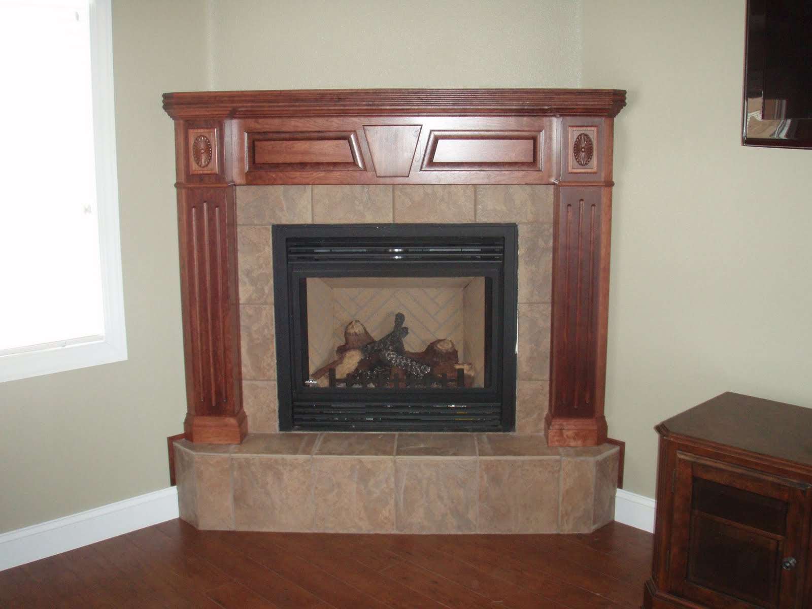 BACKER'S WOODWORKING: Cherry Fireplace