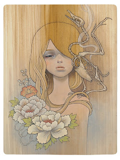 "Audrey Kawasaki's new prints for ""The Drawing Room""..."