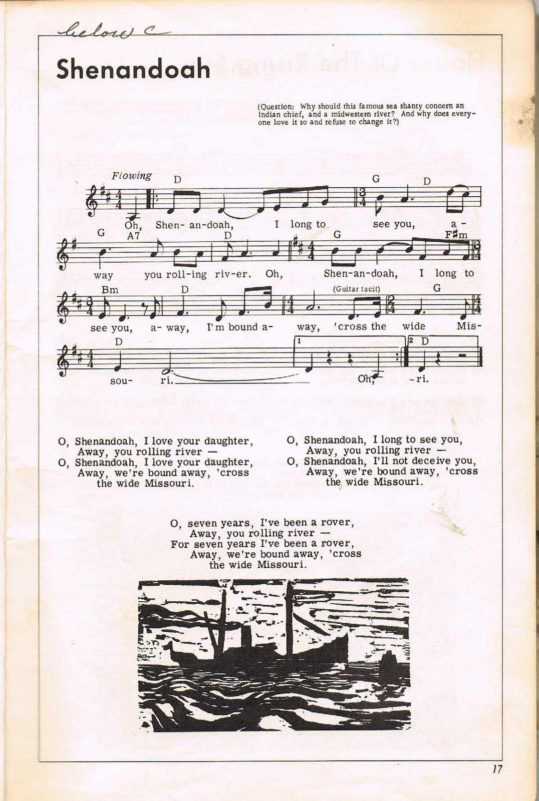 Betalegium: Shenandoah- Pete Seeger Songbook Notes and ...