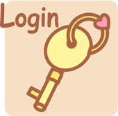 Disegno di una chiave e della scritta 'Login'