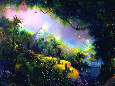 Foresta tropicale piena di luce e colori