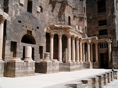 A close up of the theatre at Bosra