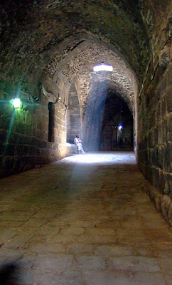 Tunnels at Bosra. Not sure when these date to