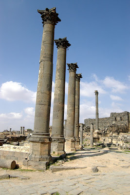 Roman Columnades at Bosra