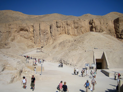 Tomb of Tutankhamun from afar