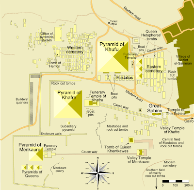 Map of the Giza Pyramid Complex