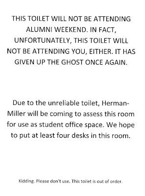 more toilet notice