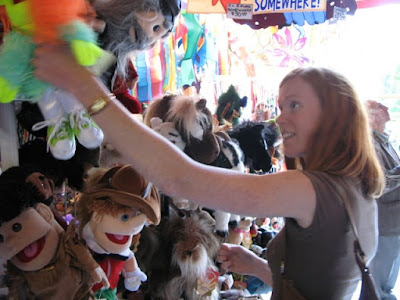 shannon looking for a red head puppet