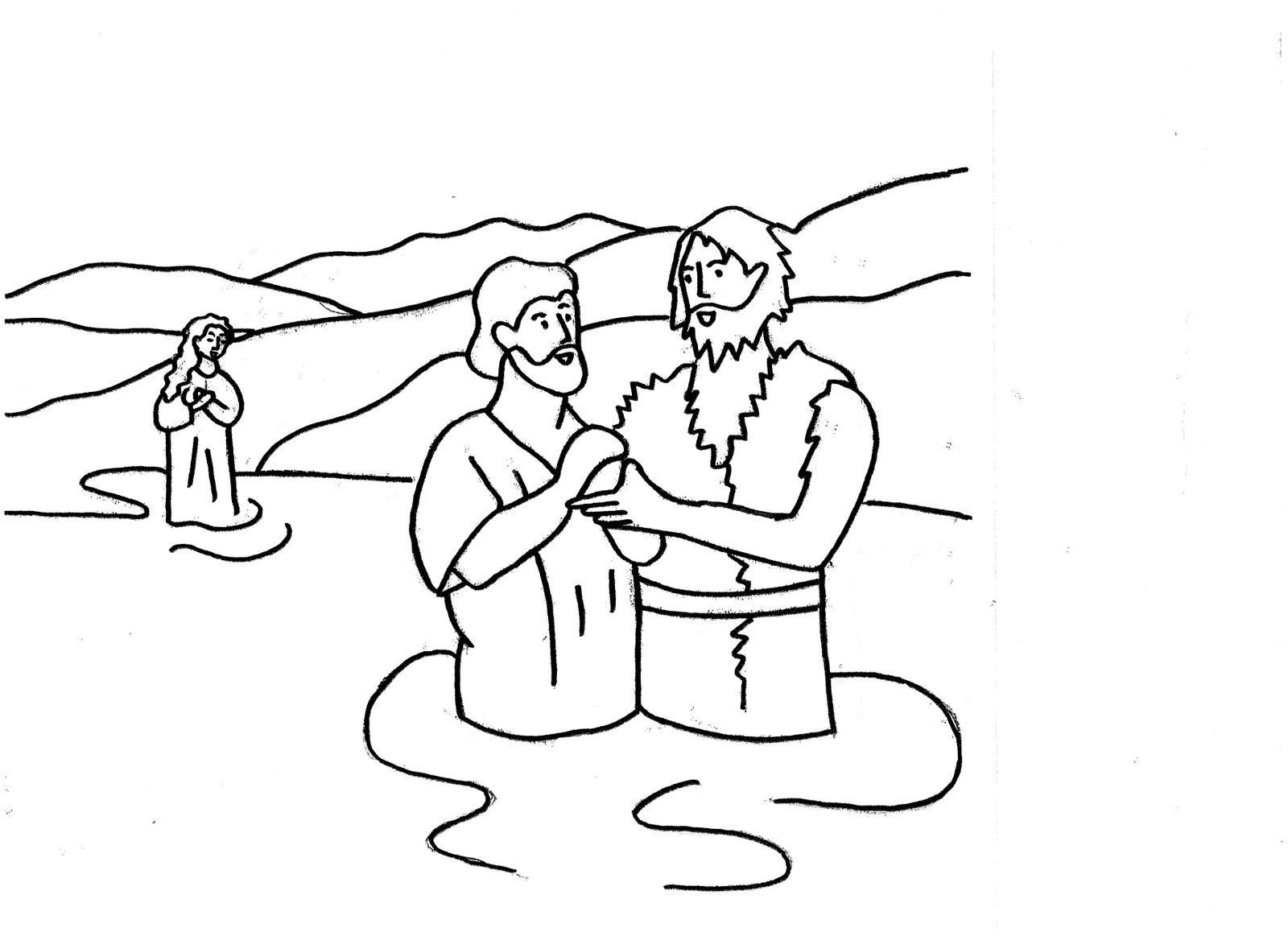 EVEIL A LA FOI CELEBRATIONS: BAPTÊME DE JESUS : DESSINS A ...