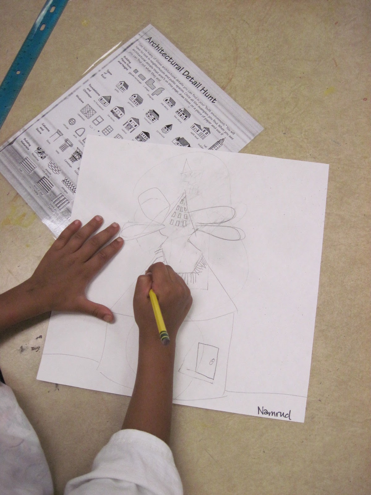 Chumleyscobey Art Room 1st Grade Architects Create Houses