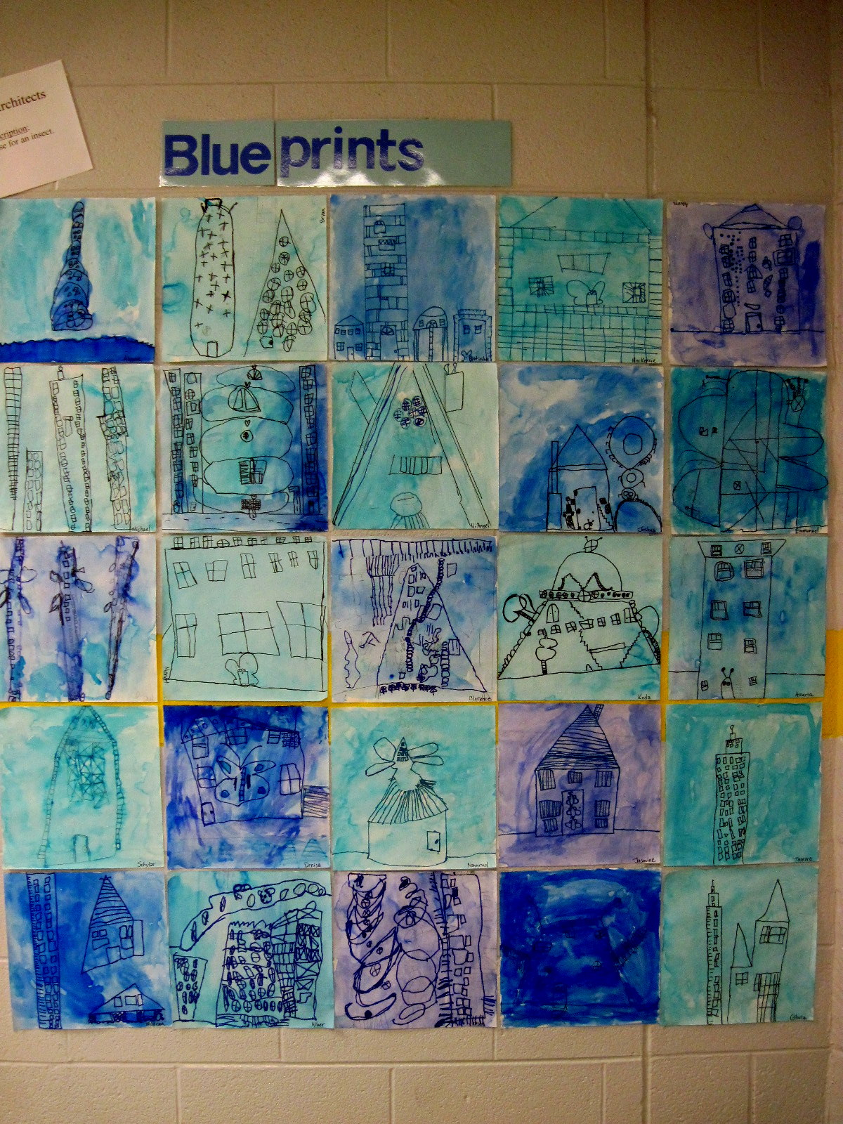 Chumleyscobey Art Room 1st Grade Architects Create Houses For Insects