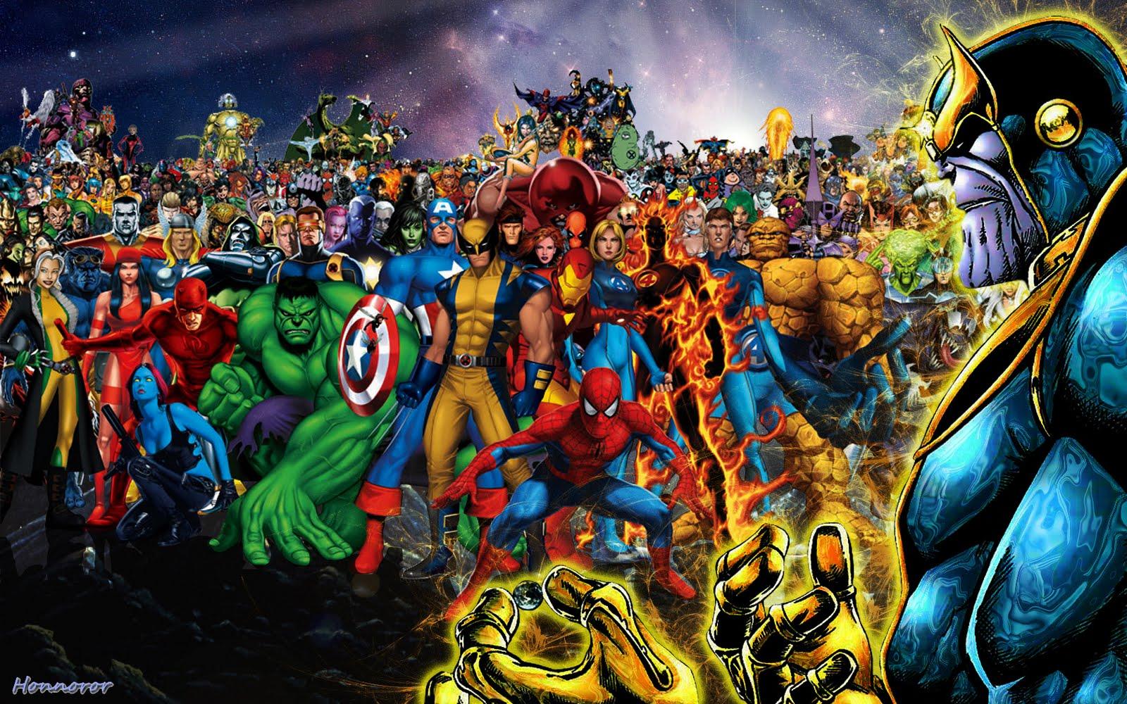 Publi  233  par Honnoror Ce mercredi  novembre 18  2009Thanos Marvel Wallpaper