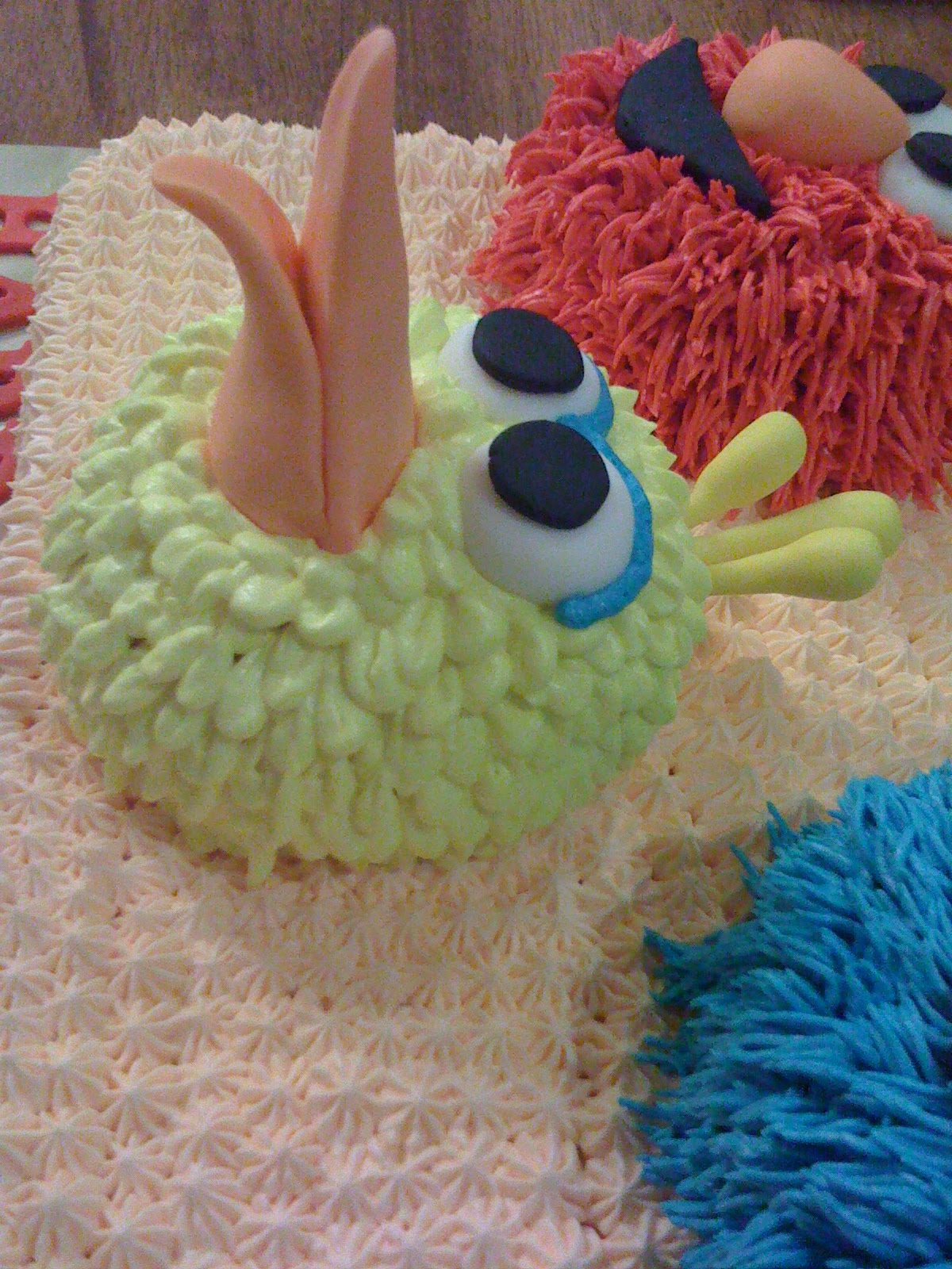 Cake Cupboard Sesame Street Cake Big Bird Elmo And