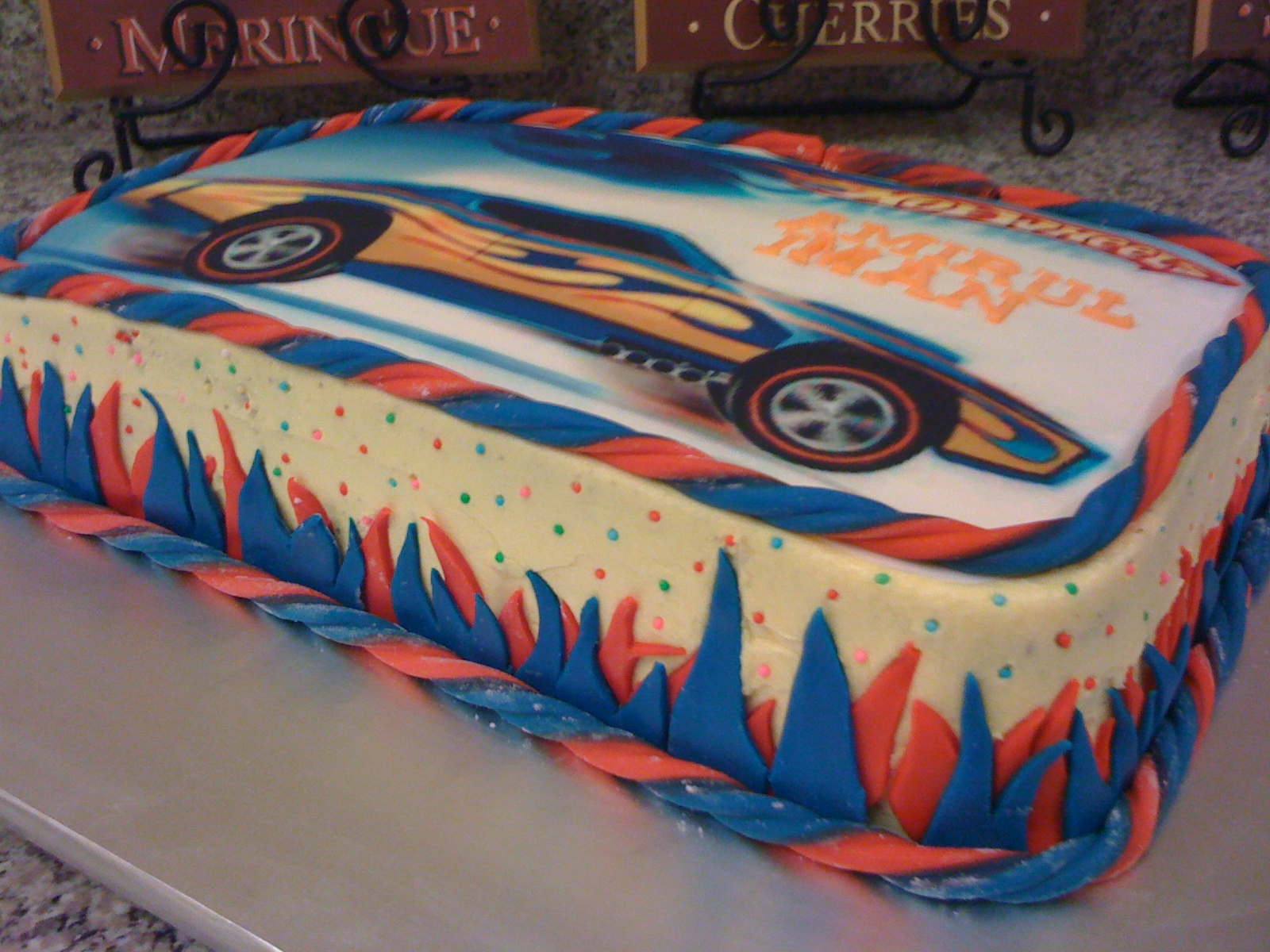 Cake Cupboard Hot Wheels Edible Image