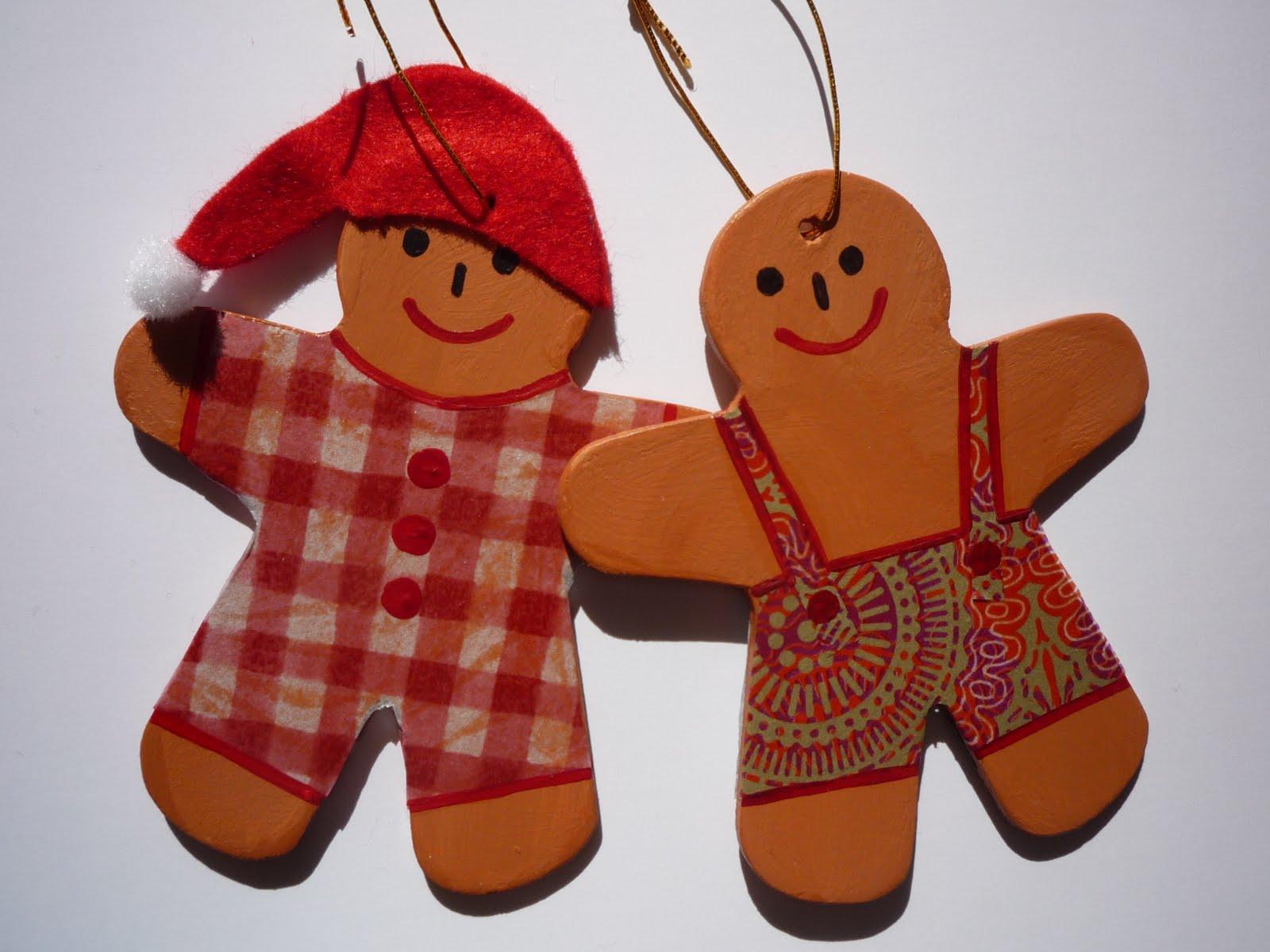 Httpart4every1blogspotcom Wooden Gingerbread Men Christmas Style