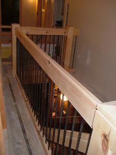 Go Prairie: House Railing at Stairs and Loft