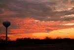 Sunset over Singing Hills Forest Preserve