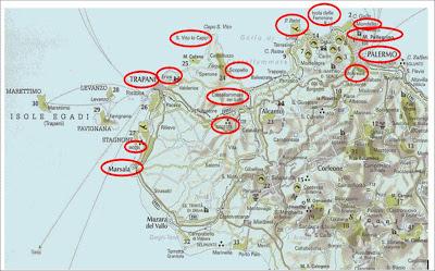 Cartina Sicilia Nord.Super Raffi I Viaggi Di Superraffi Tour Della Sicilia Nord Occidentale