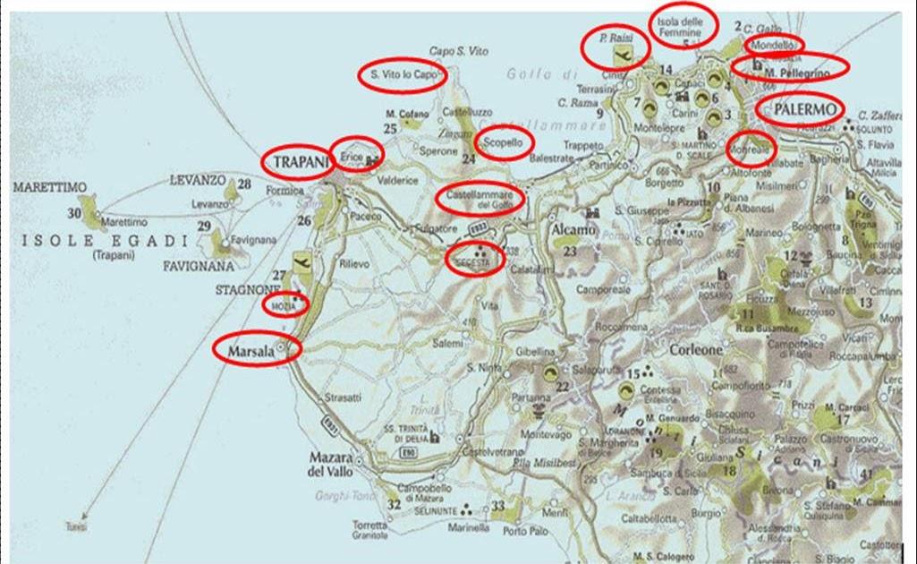Cartina Turistica Sicilia Occidentale.Super Raffi I Viaggi Di Superraffi Tour Della Sicilia Nord Occidentale