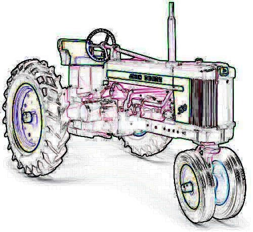 vintage tractor clipart - photo #7