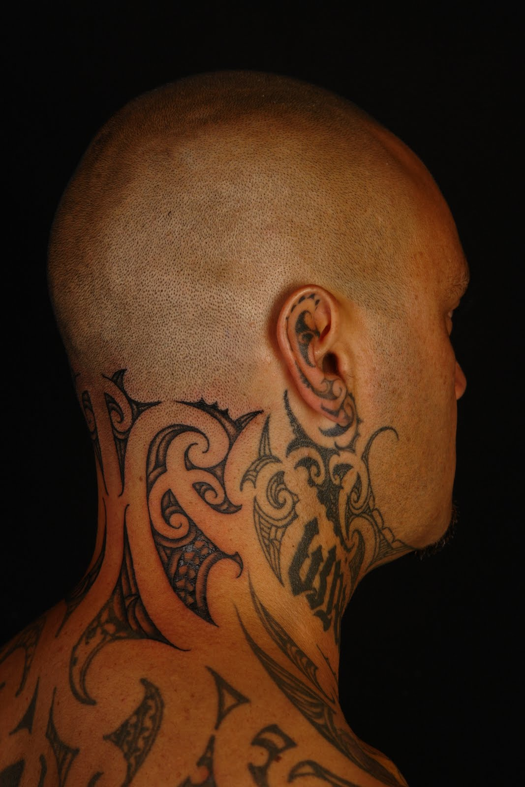 Polynesian Tiki Tattoo Designs: SHANE TATTOOS: Tiki Taane Neck Tattoo