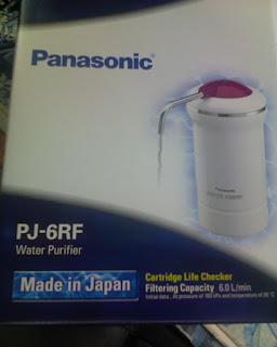 Panasonic water filter box picture. Reminds me to buy the filter cartridge. Time to change it!