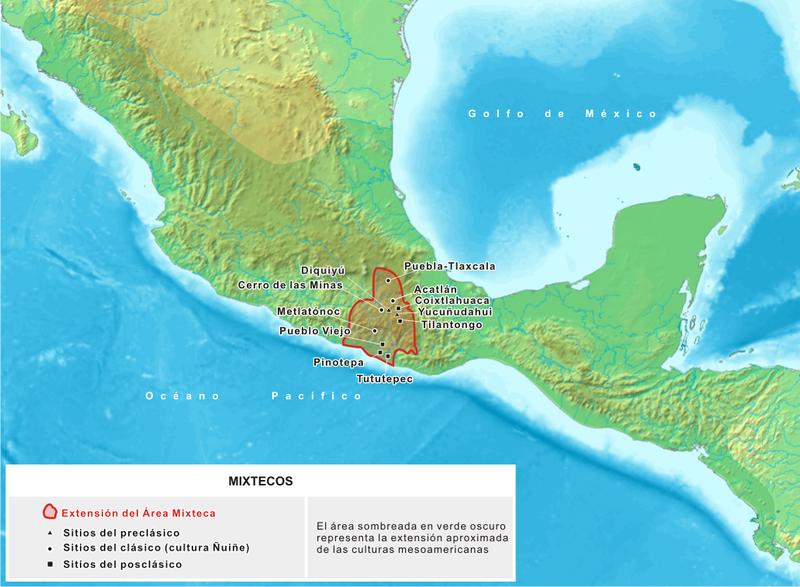 ubicacion cultura mixteca