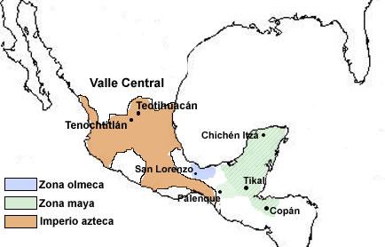 Resultado de imagen para mapa de los aztecas