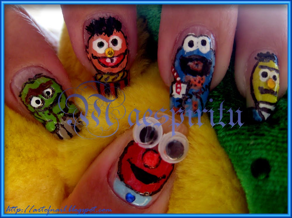 Oscar the grouch sesame street Nail art Water Decals Transfers