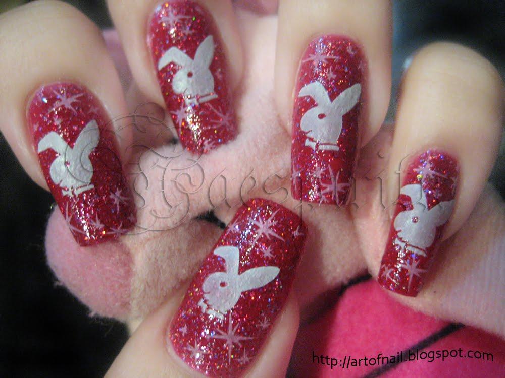 ART OF NAIL: Playboy Bunny