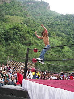 Nepali wrestlers in action