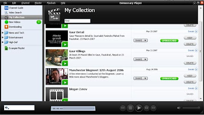 Democracy Player can download search and download files from many video shring websites, like Youtube and Revver