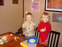 Addie and friend Trey keeping busy