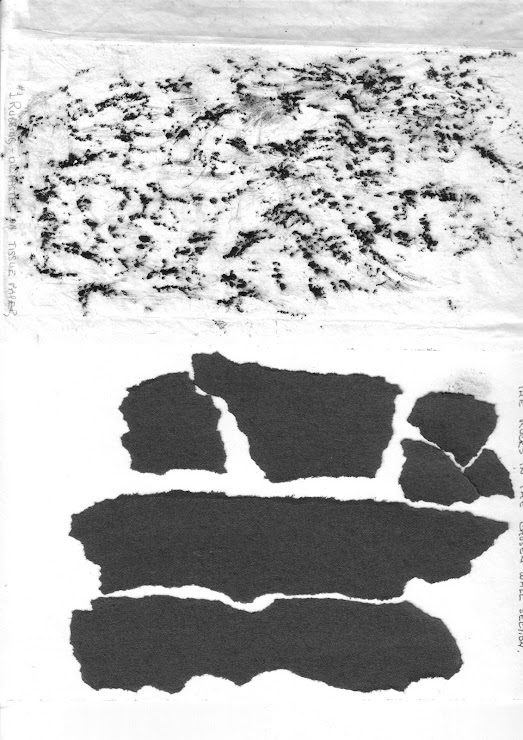 black and white rubbing, and shapes