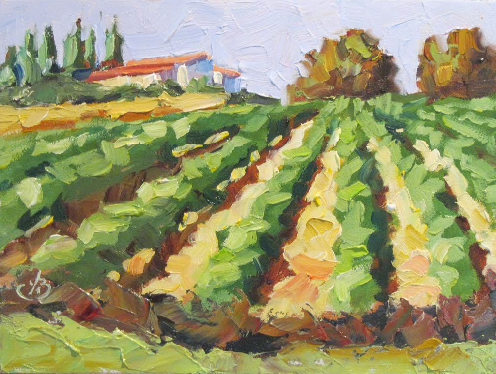 Tom Brown Fine Art Vineyard Wine Country Tom Brown