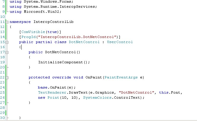 Dieg's world: Simple example of how to expose  net controls to VB6