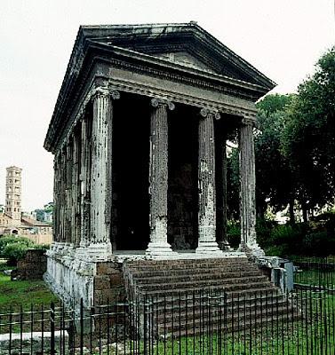 Tempio di portunno o fortuna virile for Colonne esterne di stile dell artigiano