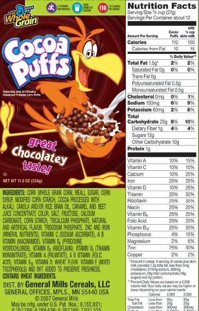 U.S. Food Policy: Trix indeed
