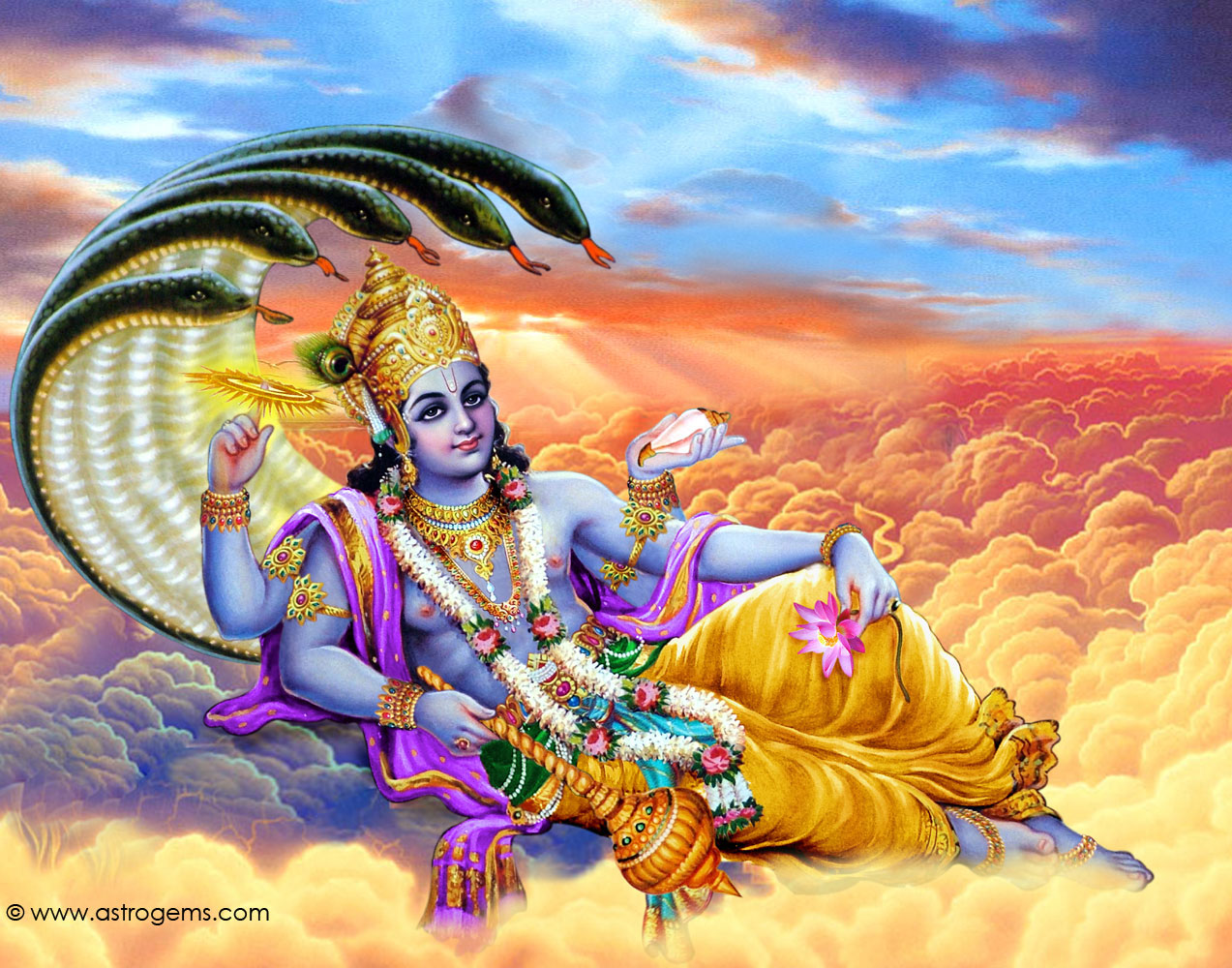 vishnu 1 Lord vishnu - he has four arms and is male: the four arms indicate his all- powerful and all-pervasive nature his physical existence is.