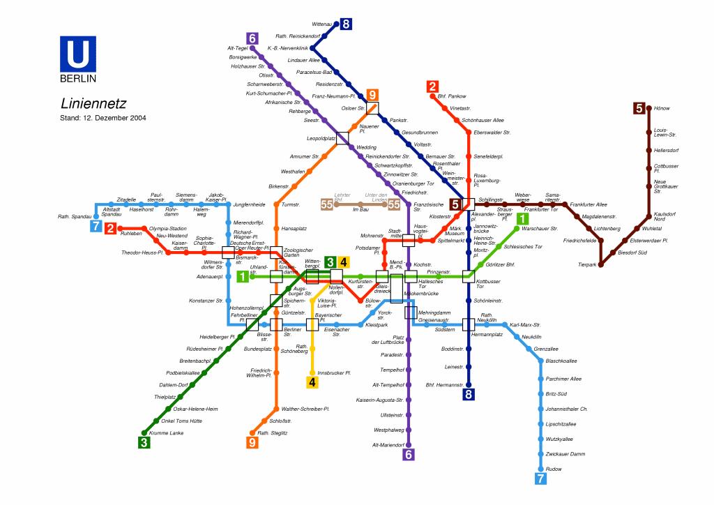 Metro De Berlin Mapa.Mapa Metro De Berlin Pdf