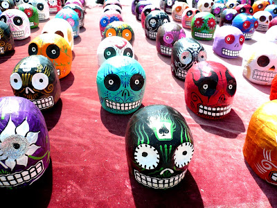 Mexican decorated skulls
