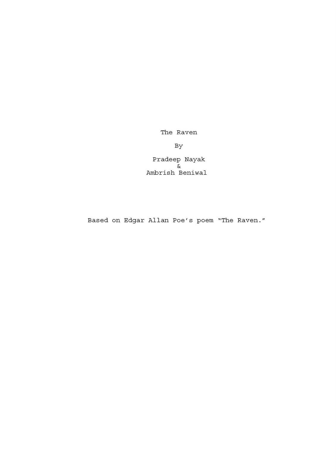 Tamasha Motion Pictures The Raven Based On Edgar Allan