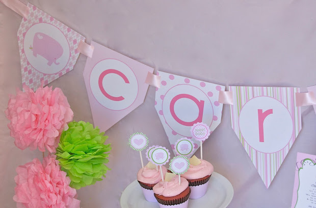 Elephant Baby Shower Name Banner