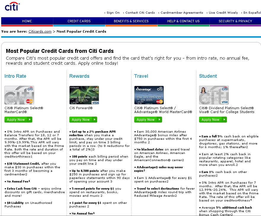 Citicards Pay Bill >> Www Citicards Com