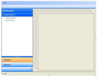 Basis opzet van een Composite Smart Client GUI